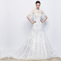 Hot Sale FashionWedding Dress Sleeve One New Style Vintage Wedding Dresses Bridal Gowns With Lace Applique