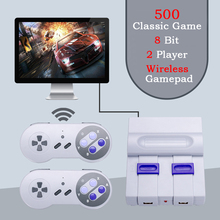 (2.4G Wireless Gamepad) Mini HD TV Video Game Console Handheld Retro Game Family Game Built-In 500 NES Classic Games Dual Player