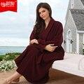 100% algodão pilha do laço applique amantes espessamento roupão de banho 100% algodão roupões de banho robe