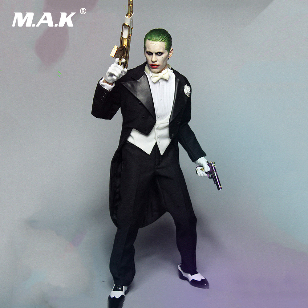 1/6 Scale Joker Jared Leto Head Sculpt and Clothes Set A005 For 12 Male Bodies Figures