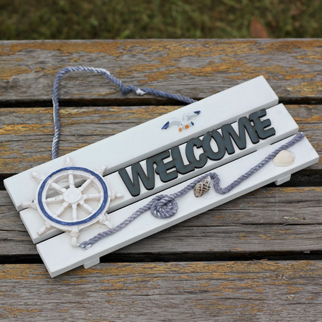 De Style Méditerranéen Bienvenue Doorplate Cm Plaque De - Plaques de porte décoratives