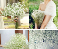 10 pcs / Lot beautiful gypsophila artificial fake silk flowers baby breath plant home wedding decorations AE03016
