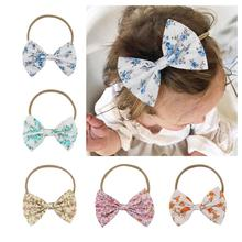 Kids Children Toddler Infant Baby Girl Nylon Elastic Stretchy Flower Floral Bowknot Headband Hairband Bow Accessories стоимость