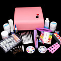Nail Art Kit UV Builder Gel 36W Timer Dryer Lamp Decorations full Tools Set #65set