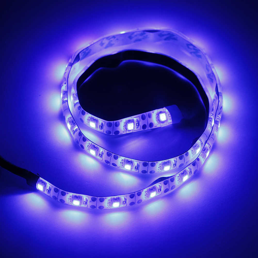 1 pc étanche 3528 Led bande rétro-éclairage batterie/USB alimenté bande auto-adhésif 0.5/1/1.5/2 m noël bureau décor lampe ruban
