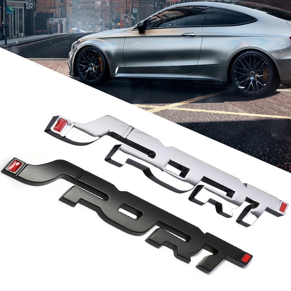 2Pcs Toyota TRD Sports 3D Car Trunk Side Fender Rear Emblem Badge Sticker Decal