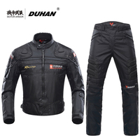 DUHAN Blouson Moto Мужская мотоциклетная мотокросса внедорожная гоночная куртка Body Armor + брюки для верховой езды комплект одежды черный синий красн