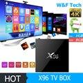 X96 S905X Android 6.0 Amlogic caixa de tv android 1 GB/2 GB DDR3 8 GB/16 GB ROM Kodi 4 K Smart media player VS TX3 T95X MX Pro set top caixa