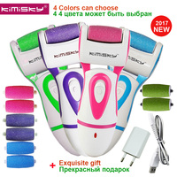 KIMISKY Red Rechargeable FOOT CARE TOOL File Callous PEDICURE Electric Exfoliator Callus Remover File 3 Scholls