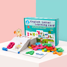 Children's Puzzle English Alphabet Word Cognitive Toy Baby Literacy Card Learning Enlightenment Early Education Card children s wooden toys enlightenment early education learning card english spelling cognitive puzzle montessori teaching aids