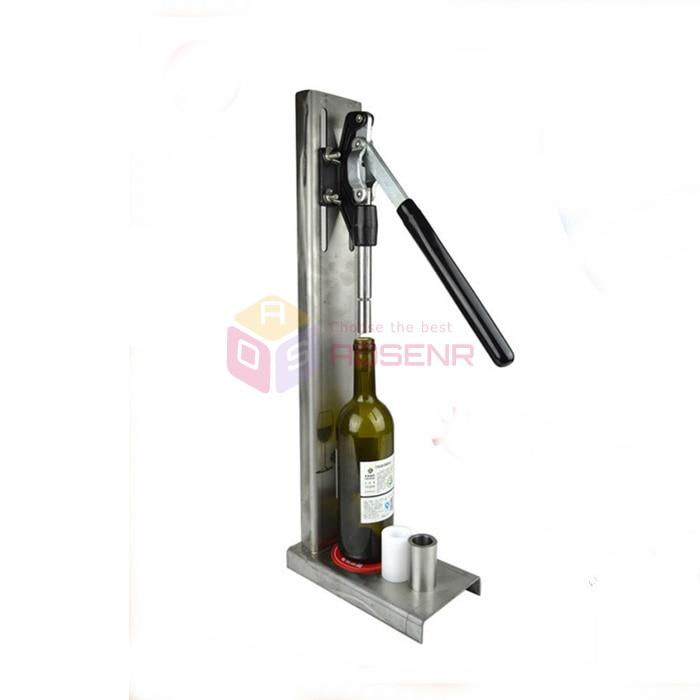 New Manual Corker Cork Stainless Steel Hand Pressure Wine Cork Bottle Stopper Tools Corking Inserting Machine база tfv12