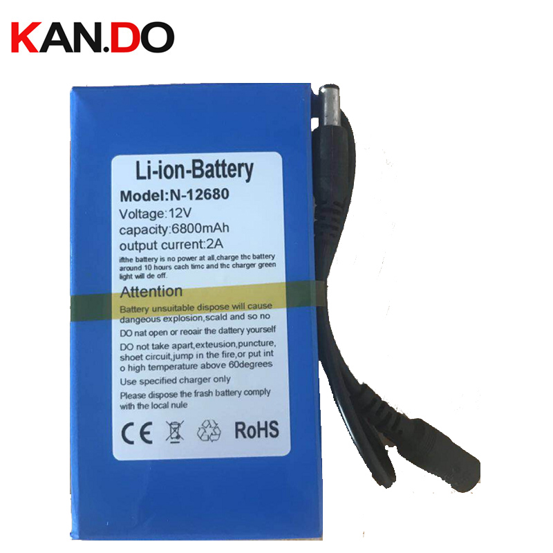 CE ROHS MSDS quality 6.8Ah capacity lithium battery smart CCTV camera power DC12V polymer lithium battery pack,capacity 6800 Mah 3pcs capacity real 18000 mah 1 1kg pcs ce rohs dc 12v lithium battery pack 1a charger cctv camera lithium battery smart power