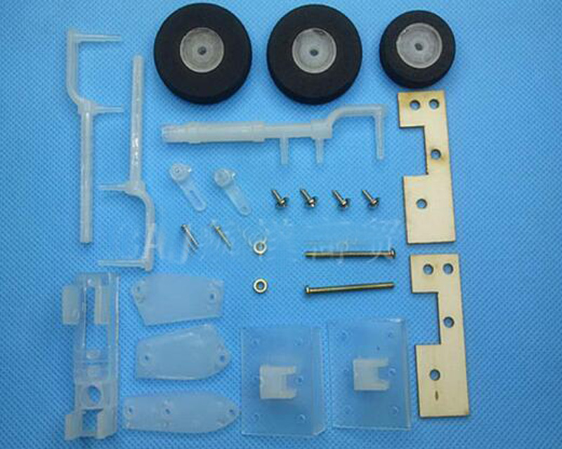SU27/F22/SU35 Plastic Undercarriage Landing Gear KT Board Front-wheel Steering Undercart With Plastic/Metal Servo For RC FPV