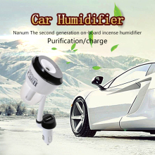 Mini Car Humidifier Air Purifier Aroma Essential Oil Diffuser Aromatherapy Mist Maker Fogger With 2 USB Charging Port Free Ship