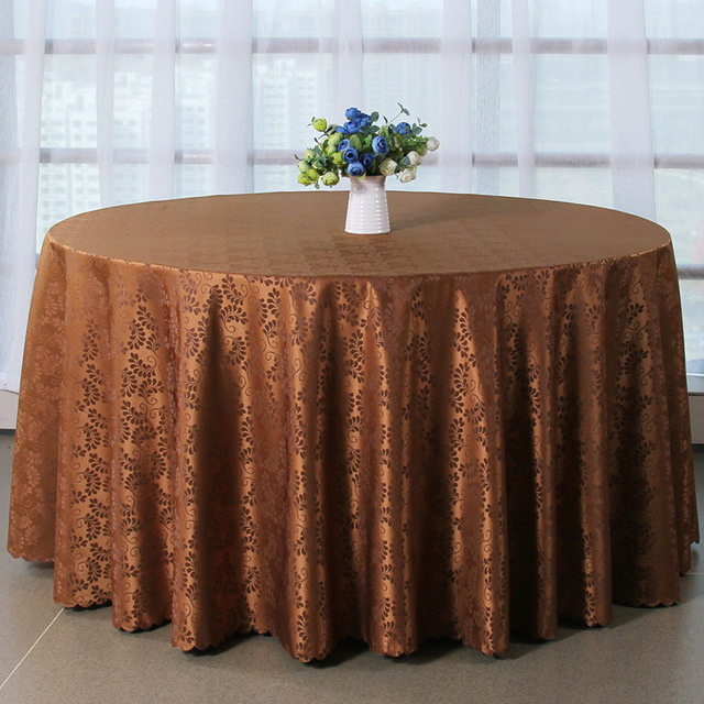 Mordern Polyester Round Fabric Table Cloth Hotel Party Wedding Tablecloth  Dining And Coffee Table Cloth