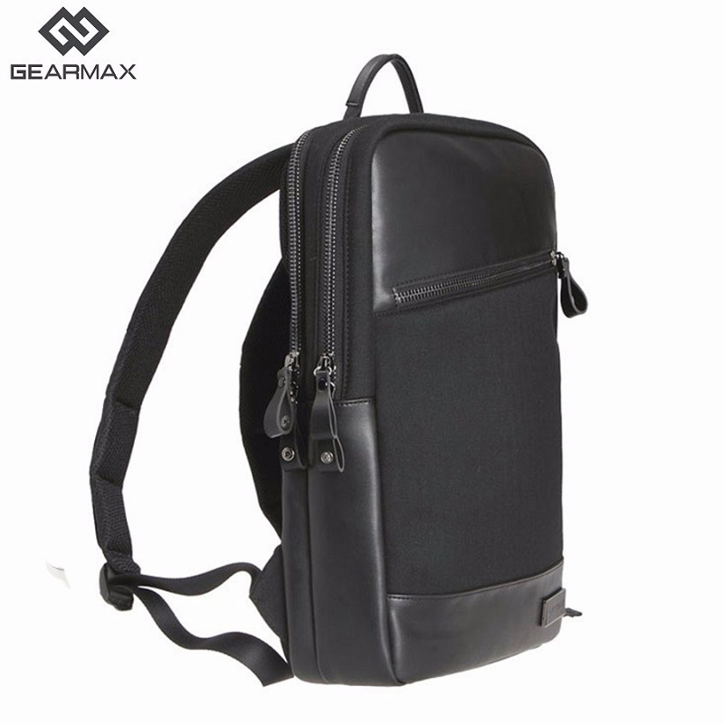 Gearmax Laptop Backpacks 15.6 inch Leather Waterproof Notebook Bag Anti-theft School Travel Backpack For Macbook Air/Pro 13 15 ynmiwei laptop backpack rucksack shoulder bag for xiaomi air 13 high quality 12 14 15 inch notebook pc backpacks school bag
