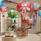 1Pcs Santa Claus Elk Hot Air Balloon 12 inch Paper Lantern Lampshade Ceiling Light Christmas Xmas Decor Party Decoration