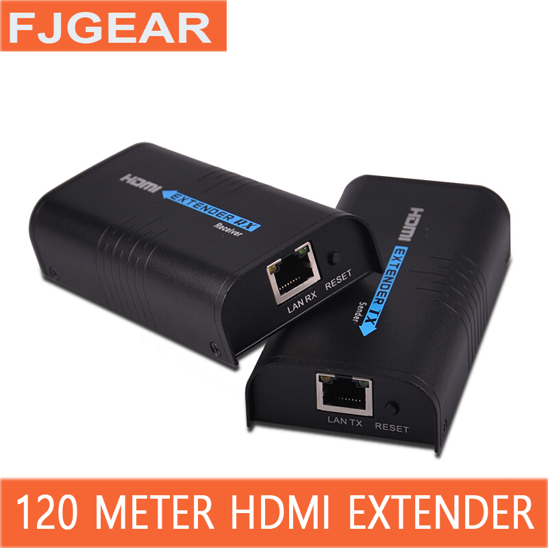 HDMI extender Audio and video synchronization CAT5e / 6 rj45 network cable transmission HD video signal amplifier цена