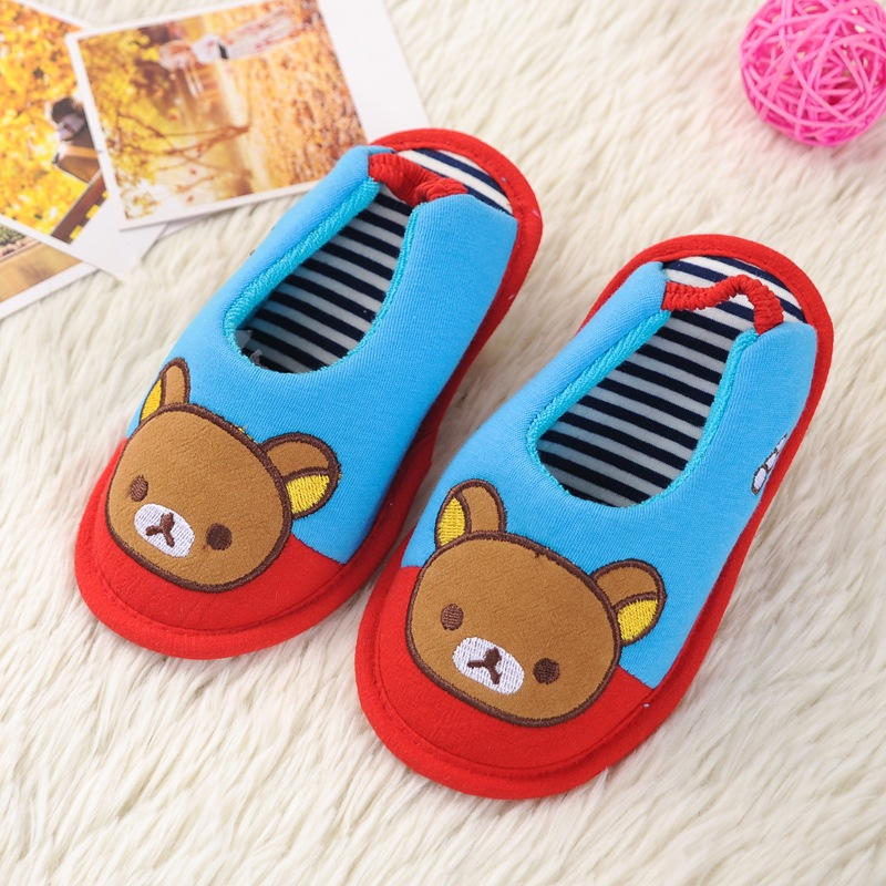 2018 ChildrenS Cotton Shoes Kids Home Slippers Boys And Girls Baby Cute Thickening Warm Indoor Shoes 0805