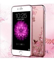Nova moda de luxo tpu caso para iphone 7 plus 5.5 polegada clear rhinestone macio silicone volta capa protetora do telefone móvel caso