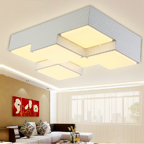 Ceiling Lights & Fans Inventive Modern Geometric Box 3d Diy Ceiling Light For Bedroom Foyer Iron Acrylic Cube Combination Illuminare Lighting Fixture 2399 Back To Search Resultslights & Lighting