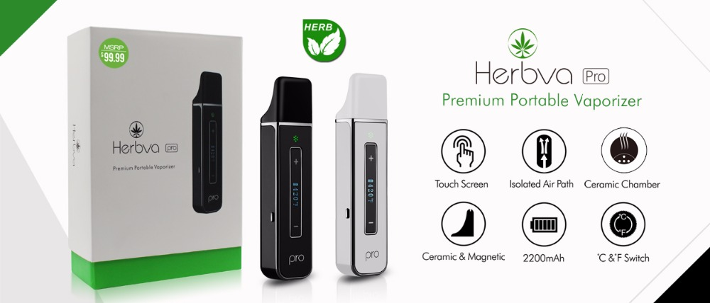 Airistech Herbva PRO Dry Herb Vaporizer Kit ceramic 2200mah Baking intelligent bottom heating herbal nokiv dry herb vaporisator
