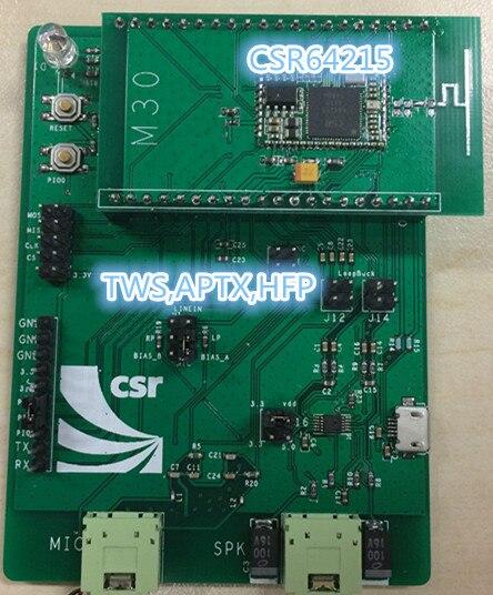 CSRA64215 M30 Bluetooth development board, function board, debugging board, evaluation board TWS module xilinx xc3s500e spartan 3e fpga development evaluation board lcd1602 lcd12864 12 module open3s500e package b