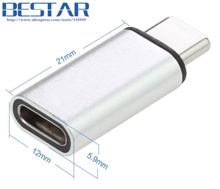 2017 NIEUWE type Zilver & Grijs 10 Gbps standaard Metalen USB-C USB - Computer kabels en connectoren - Foto 5
