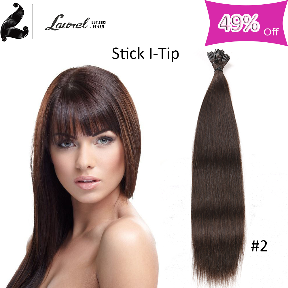 7a Grade Peruvian font b Straight b font Stick I Tip Hot Fashion font b Hair