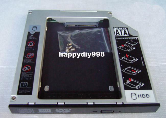 Generic 9.5mm Sata 2nd Hard Drive Hdd Ssd Caddy for Toshiba U400d U405 U450d U500 U505