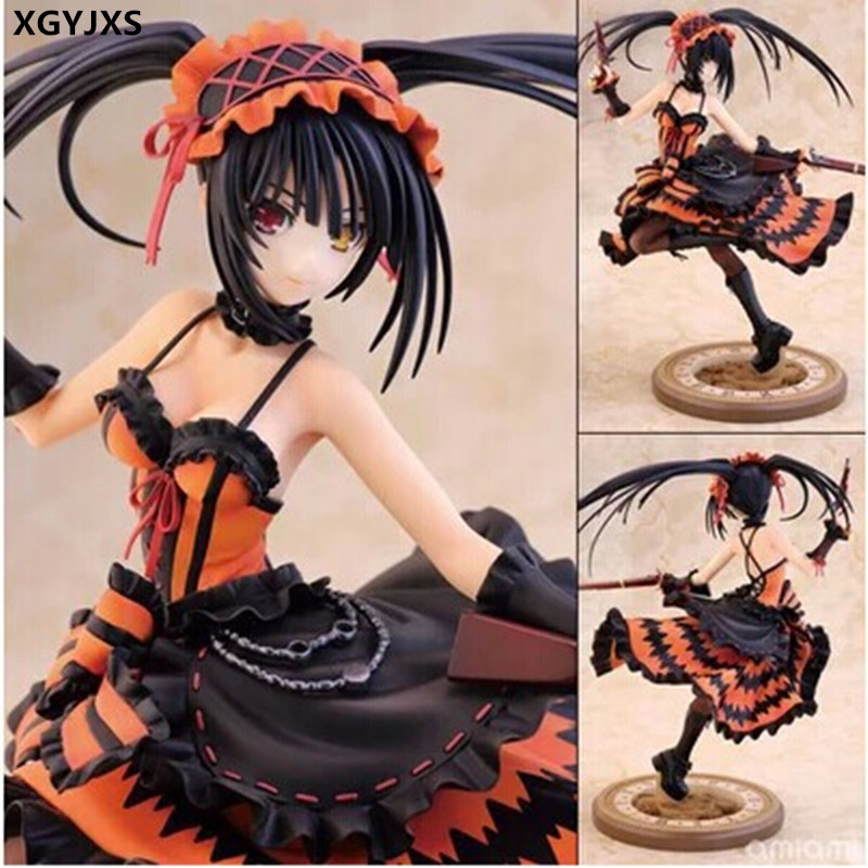 Date A Live Tokisaki Kurumi 1/8 Scale Action Figures PVC Brinquedos Collection Figures Toys For Christmas Gift X185 heat resistant kanekalon party hair date a live tokisaki kurumi black twin tail cosplay party wigs