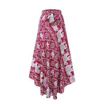 faldas mujer moda 2019 Womens Fashion Lady taille haute Bohême Vintage Loose Beach Wrap Maxi jupe longue jupe femme gothique saia #C бка