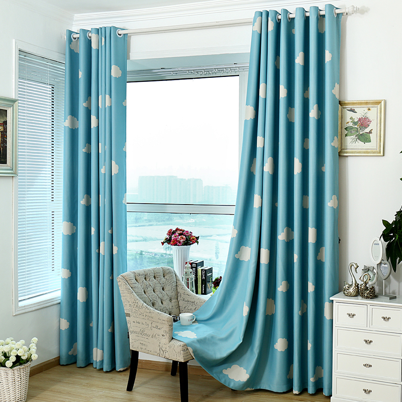 urijk pc nuvem cortinas blackout para sala de estar crianas meninas quarto cortinas decorativas cortinas