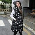 2016 новый осенне-зимней моды хлопка жилет женский Корейский Тонкий тонкий длинные ватник