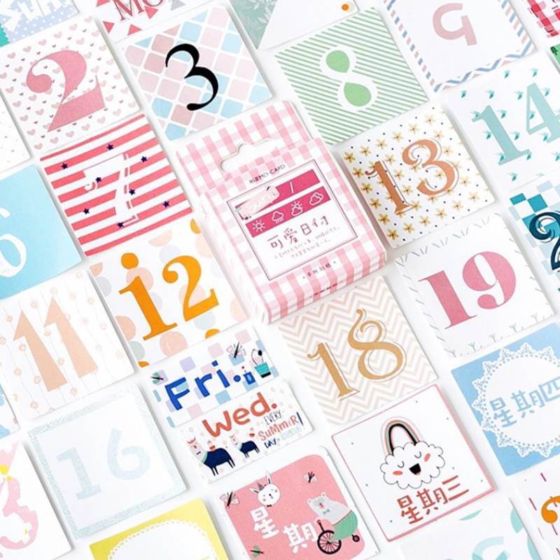 45 Pcs Retro Sticker Diary Calendar Photo Album Decoration Sealing Sticker Diy