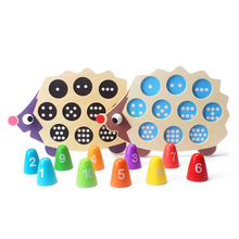 Educational Mathematic Hedgehog Shaped Wooden Montessori Game