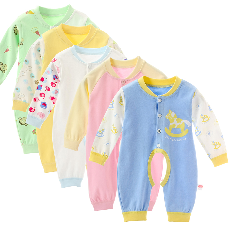 2018 Spring Autumn baby boy clothing Pure Cotton Long Sleeved Baby Girl clothes cartoon baby romper babies jumpsuits dinstry newborn baby girl cotton romper jumpsuit long sleeved spring and autumn pink infant clothing clothes