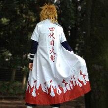 Бесплатная доставка Наруто Костюм Yondaime Хокаге Плащ Аниме маскарадный костюм для Хэллоуин