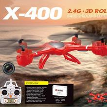 Free shipping MJX X400 RC Drone 2.4G 4CH 6-Axis Remote Control RTF RC Helicopter Quadcopter without Camera