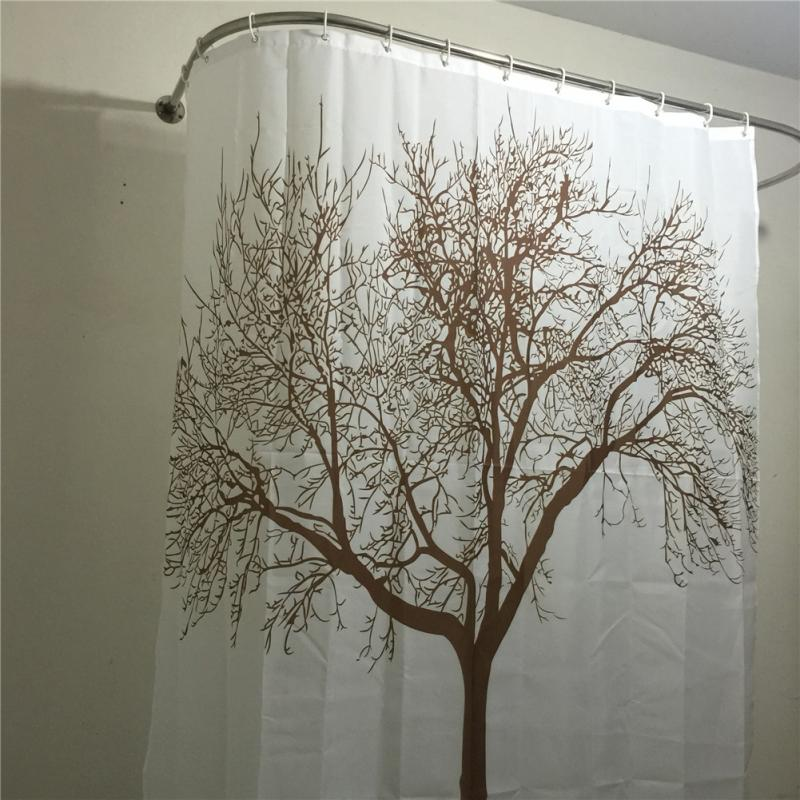 Aliexpress Buy Creative Home Decor Polyester Brown Tree Waterproof Shower Curtain Bathroom 180 180CM PH From Reliable Curtains