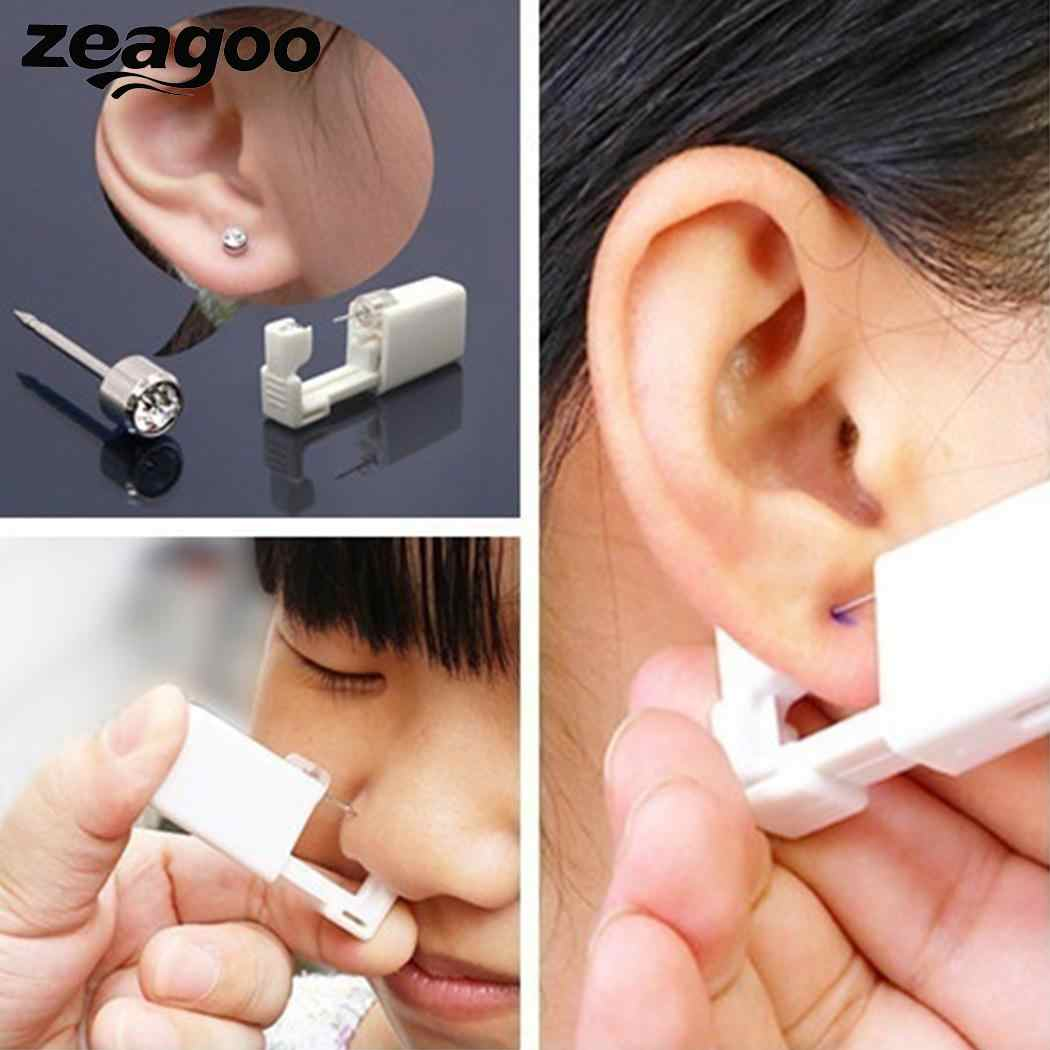 Zeagoo Safe Portable Ear Piercing Tool Sterile No Cross-infection No hepatitis No HIV Nose Ear Disposable Body Piercing Tool