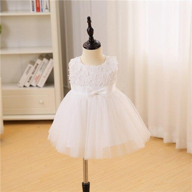 ef8a75221b919 White baby summer dress wedding party princess girl baptism newborn dresses  for 1st birthday