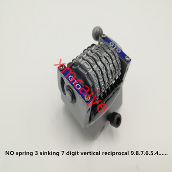 3 pieces No spring 3 sinking GTO 7-digits numbering machine vertical , jump moth 0987654......sides 22.3