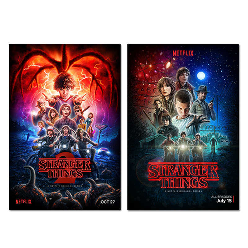 TV Series Stranger Things Poster Season 2 Eleven Posters Wall Art Prints Kids Room Decor Fantasy Silk Pictures