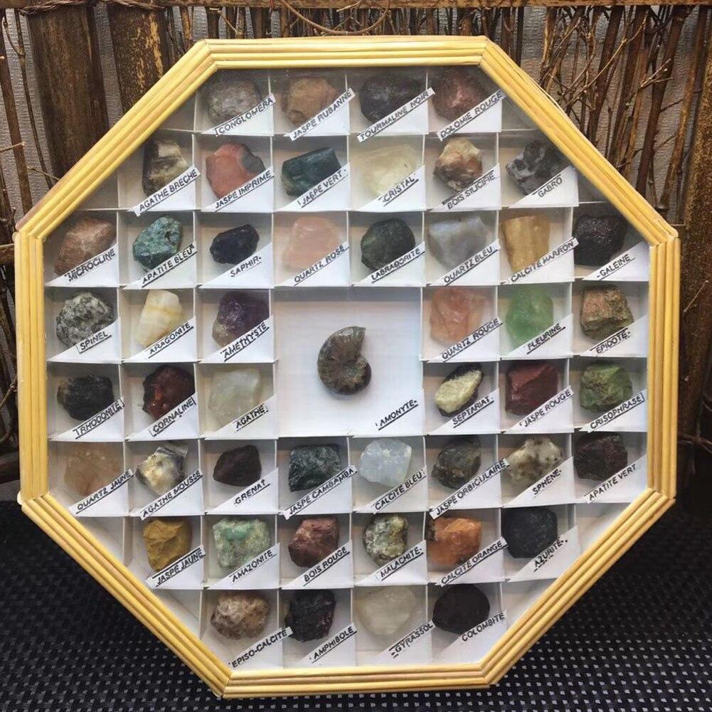 49 видов Натуральный камень кристалл сырье минеральная кристалл турмалина обсидиан Родонит лазурит образцов