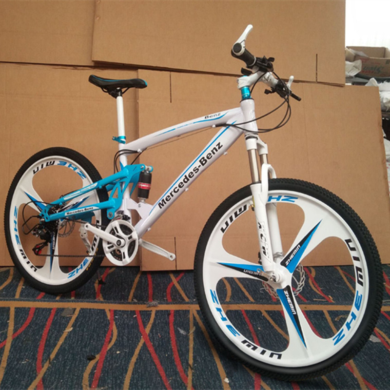 Folding Mountain Bike 26 Inch Mountain Mike 21 Speed 24 Speed 27 Speed Double Disc Brake Bicycle