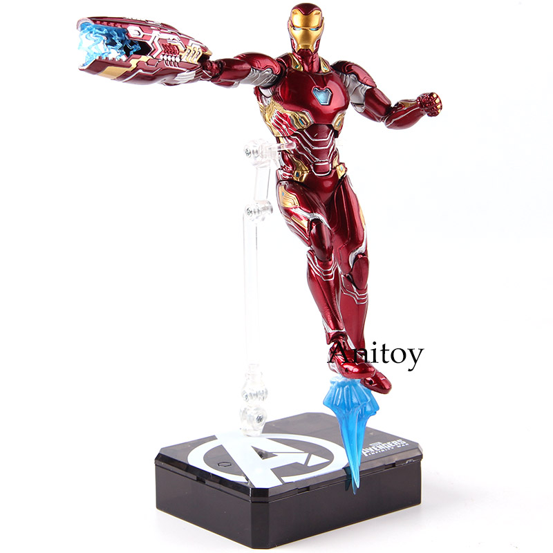 Figuarts SHF Iron Man MK50 & Tamashi Stage PVC Action Figures Marvel Avengers Infinity War Ironman Mark 50 Collectible Model Toy image