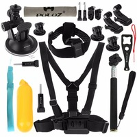 Action Camera Accessories Set 20 In 1 Gopro Accessories Kit Mounts Chest Belt Head Strap For