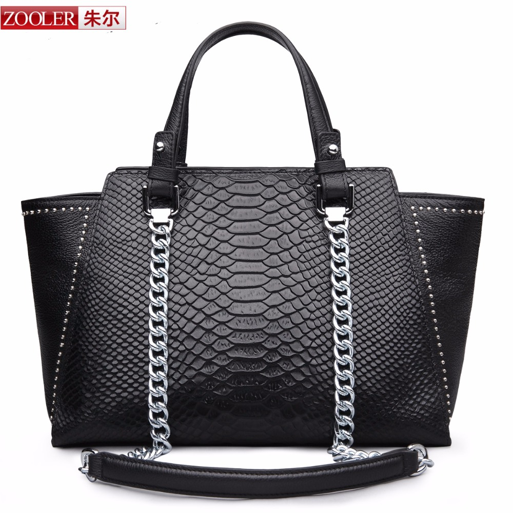 limited edition 2017 ZOOLER Serpentine grain genuine leather font b Bags b font for font b