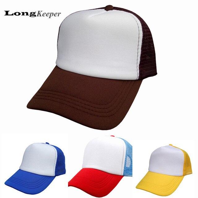 LongKeeper Hip-Hop Baseball Cap Blank Golf Hat Adjustable Trucker Mesh  Visor Hat Wholesale Price Blank Or Custom Made 10pcs set ed054f69a3f
